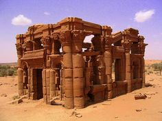 Meroe Nubia | Ruins of the Merotic temple at Musawwarat es-Sufra.