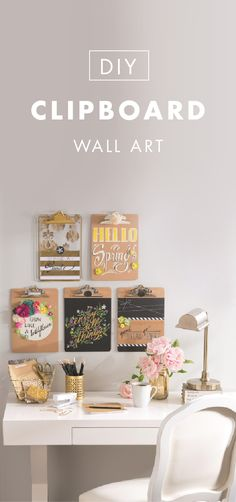 If this DIY Clipboard Wall Art from Jo-Ann doesn't inspire you to add a crafty twist to your home office—we don't know what will! This craft project is easy to achieve; just gather your favorite paint colors and harness your inner creativity. You'll have a stylish and unique home decor piece in your space in no time.