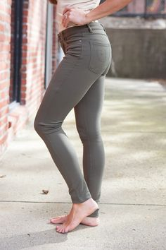 Magnolia Boutique Indianapolis - Olive Skinny Jeggings, $29.00 (http://www.indiefashionboutique.com/olive-skinny-jeggings/)