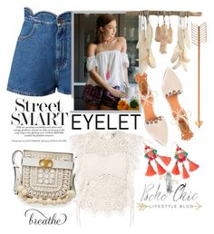 """""""Eyelet trend"""" by cool-cute ❤ liked on Polyvore featuring Valentino, Francesca's, Tory Burch, Derek Lam, Nightcap, Lilly Pulitzer, Gipsy, Summer, bohochic and eyelet"""