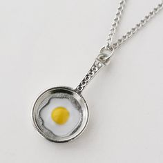 Fried Egg Necklace