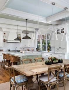 Kitchen: white cabinets, hardwood floors!