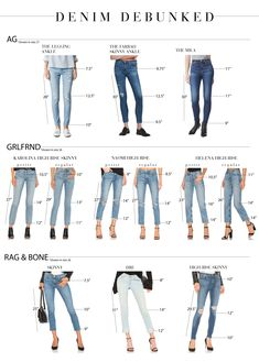 The Best Skinny Jeans For You, Based On This Handy Chart - The Mom Edit