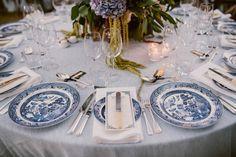 Pretty Delft menus we created for a recent wedding. #menu #delft #blue #weddingstationery #weddingmenu