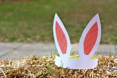 DIY bunny ears: Great idea for a kids birthday party