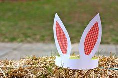 DIY bunny ears: Great idea for a kids birthday party