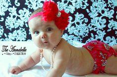 baby headband baby girl headband  Hot Pink by AnnabelleCollection, $10.95