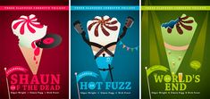 This is our ranking of the Three Flavours Cornetto Trilogy - a set of movies consisting Shaun of the Dead, Hot Fuzz, and The World's End. All three are directed by Edgar Wright, starring Simon Peg and Nick Frost. Movies Showing, Movies And Tv Shows, The Cooler Movie, Simon Pegg, Be With You Movie, Film Genres, Zombie Movies, We Movie, Alternative Movie Posters