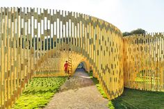FABRIC Unveils Mesmerizing Wooden Zoetrope Pavilion in Copenha...