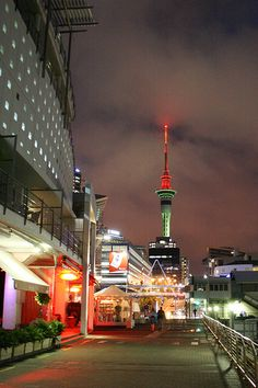 Auckland, New Zealand - Viaduct and Sky Tower. Living In New Zealand, Visit New Zealand, New Zealand Travel, Places To Travel, Places To See, Chatham Islands, New Zealand Houses, Auckland New Zealand, The Beautiful Country