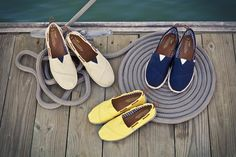 ahoy, the #structure of TOMS Nautical Biminis // boat shoes TOMS One for One