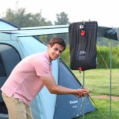 KingCamp 20 L Camping Portable Ultra-light Solar Shower Bag with ON/OFF Switch