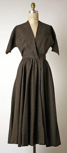 Black Striped Fabric Dress, by Miss Anne Fogarty, 1955. Metropolitan Museum.