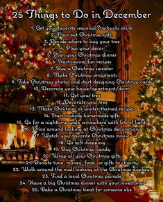christmas bucket list 25 Things to do in December! : 25 Things to do in December! Christmas Mood, Merry Little Christmas, Holiday Fun, Countdown To Christmas, Christmas Things To Do, Christmas Movies List, Christmas Playlist, Aussie Christmas, Christmas Activities