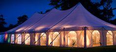 wedding tent lighting ideas