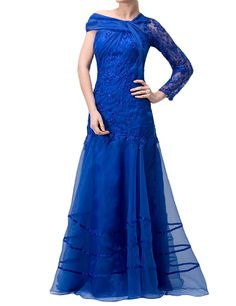 Favors Dress Women's One Shoulder Formal Evening Party Dress with Sleeves WP16 *** Hurry! Check out this great product : Mother of the Bride