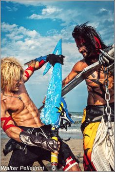 Tidus Vs Jecht Cosplay Final Fantasy - Gonna Cry? by ~LeonChiroCosplayArt on deviantART