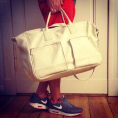 """""""MR. WHITE"""" is one of 4 of our vintage leather weekender. He is strictly LIMITED and has an amazing texture. No stress on the weekends and on flights with this beau!"""