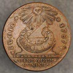 1787 Fugio cent obverse