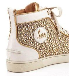 Gold & White Christian Louboutin Sneakers