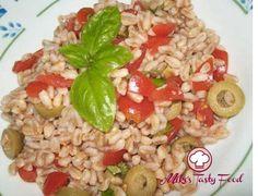Insalata di farro olive e pomodori @mikestastyfood.com