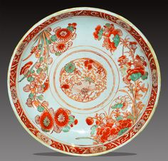 A Chinese Iron red Decorated Dish Qing KangXi Period Oriental, Chinese Ceramics, Qing Dynasty, Chinese Painting, Filet Crochet, Chinoiserie, Ceramic Pottery, Stoneware, Old Things