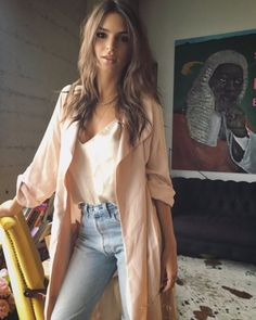 That blush pink trench is beautiful // Find a similar look on Effinshop.com xx