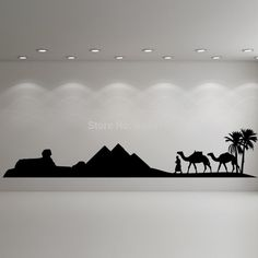 US $16.84 - Hot Egypt Pyramid Skyline Camel Sand Wall Art Sticker Decal DIY Home Decoration Decor Wall Mural Removable Room Sticker 160X35cm-in Wall Stickers from Home & Garden on Aliexpress.com | Alibaba Group