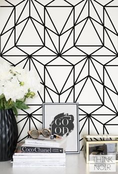 Removable Art Deco temporary wallpaper, also available as traditional wallpaper Geometric Removable Wallpaper, Temporary Wallpaper, Trendy Wallpaper, Traditional Wallpaper, Traditional Decor, Wallpaper Paste, Of Wallpaper, Standard Wallpaper, Bathroom Wallpaper