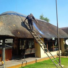 Protect your Thatch RoofsThe benefits of our Spray.Fire RetardantFire-Guard is a marvellously effective product with the propensity to Gumtree South Africa, Thatched Roof, Timber Wood, Outdoor Life, Stables, Glamping, Climate Change, My Dream Home, Gazebo
