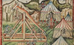 """The trebuchet was a siege engine that represented one of the greatest advances in technology during the Middle Ages. The great advantage of a trebuchet over a catapult was that its aim could be calibrated so that it could hit the exact same spot over and over again. Excerpt from Taking the Cross: """"By day came attackers with ladders, and by night stones hurled against ancient walls by catapult and trebuchet."""""""