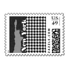 New York, Statue of Libety Houndstooth Postage