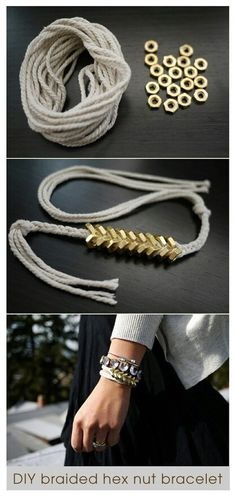 DIY bracelet // need to go to a hardware store immediately.