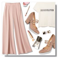 """""""Pretty Simple."""" by peony-and-python ❤ liked on Polyvore featuring Sergio Rossi, Burberry and Valentino"""