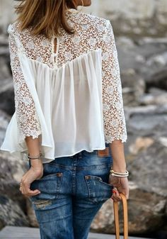 Its never too early to start planning for spring and summer fashion trends! We still adore a flowy, boho white lace top for absolutely every occasion. Purchase this piece for a comfortable and cute look you'll wear over and over!