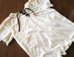 DIY Pirate Shirt tutorial how to cut a t-shirt
