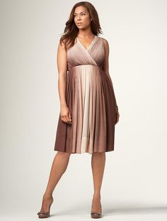 I like this ombre surplice dress but it ain't in my size. It is available in pretty much every other size so if you are not a 3X or larger, check it out. $41.59