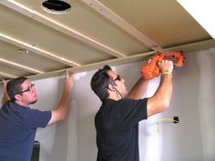 Installing plank ceiling