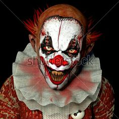 creepy-clown-with-neck-collar Recent Clown Sightings: Safety Tips for a Fun and Safe Halloween Clown Makeup, Halloween Makeup, Halloween Party, Halloween Ideas, Halloween 2016, Halloween Circus, Haunted Halloween, Halloween Stuff, Happy Halloween