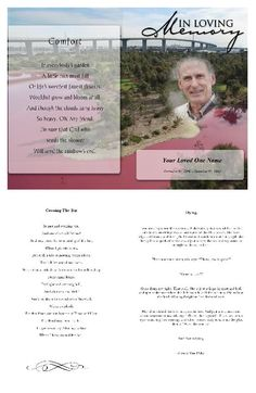 Free Funeral Programs Extraordinary Create Funeral Program Using Funeral Templateselect Size Pages .