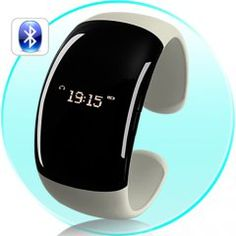 Ladies Bluetooth Fashion Bracelet with Time Display - Pearl White (Call/Distance Vibration, Caller ID)