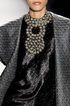 Joanna Mastroianni at New York Fashion Week Fall 2013 %style New York Fashion, High Fashion, Winter Fashion, Womens Fashion, Grey Fashion, Rose Fuchsia, Fashion Details, Fashion Design, Haute Couture Fashion