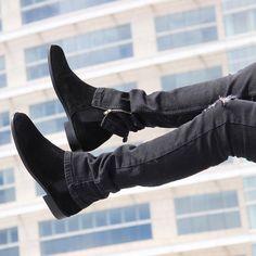 @orolosangeles Tuff Denim The Black Suede Chelsea Boots http://ift.tt/1U02klt @orolosangeles