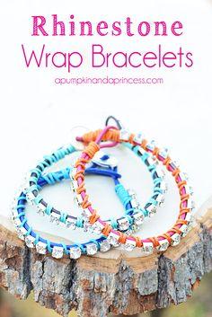 Rhinestone wrap bracelet tutorial