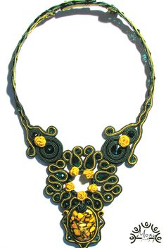 Yellow Roses necklace, made by me!