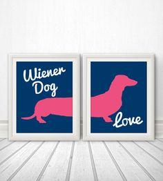 Wiener Dog Love, Wiener Dog, Dachshund, Wiener Dog Print, Wiener Dog Art, Wiener Dog Poster, Dog Print, Dog Art, Dog Poster - 11x14 by BentonParkPrints on Etsy https://www.etsy.com/listing/150618924/wiener-dog-love-wiener-dog-dachshund