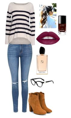 """""""Awesome outfit"""" by jacquelinebroersen on Polyvore featuring mode, Topshop, Velvet by Graham & Spencer, Laurence Dacade, Chanel en Giorgio Armani"""
