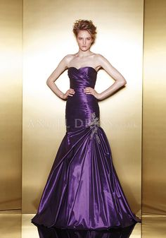 Satin Taffeta Mermaid Sweetheart Asymmetric Waist Zipper Back Floor Length Evening Dresses