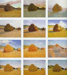 Monet - Haystacks my favorite monet- the same haystack but at different times of the day!