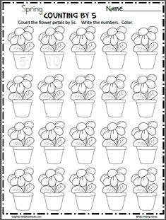 Count Flower Petals By 5